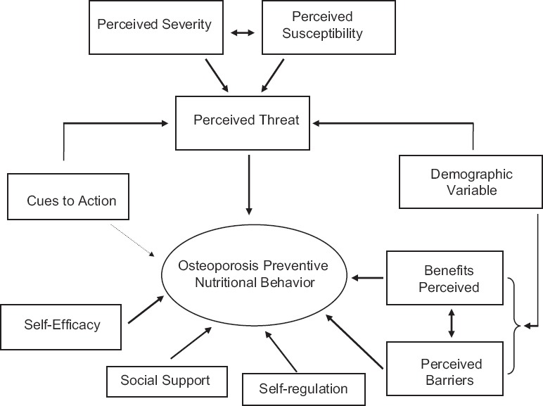 Application Of The Health Belief Model And Social Cognitive Theory For Osteoporosis Preventive Nutritional Behaviors In A Sample Of Iranian Women Abstract Europe Pmc